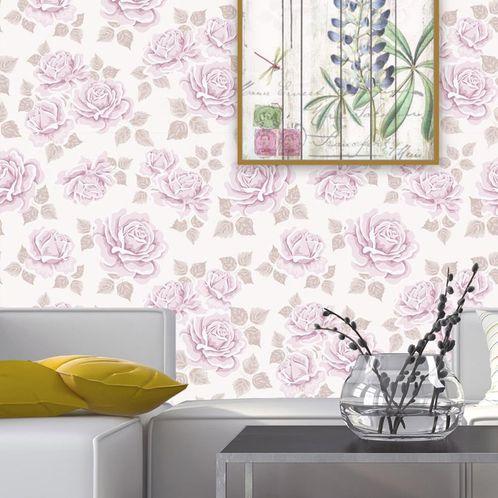 Papel de Parede Adesivo Rolo 0,58x3,00M Floral 115223887