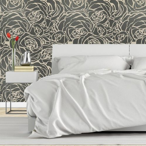 Papel de Parede Adesivo Rolo 0,58x3,00M Floral 122137744