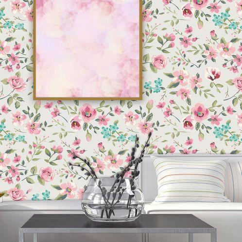 Papel de Parede Adesivo Rolo 0,58x3,00M Floral 119483737