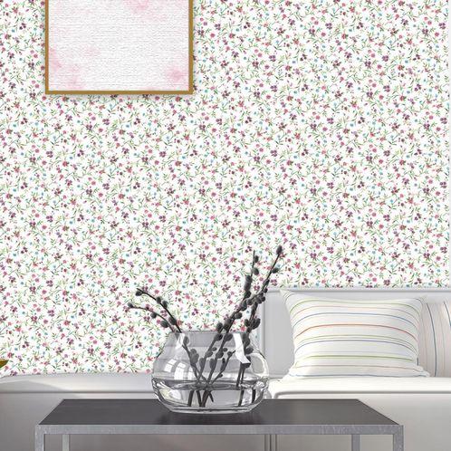 Papel de Parede Adesivo Rolo 0,58x3,00M Floral 13321