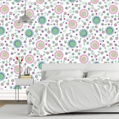 Papel de Parede Adesivo Rolo 0,58x3,00M Floral 1430