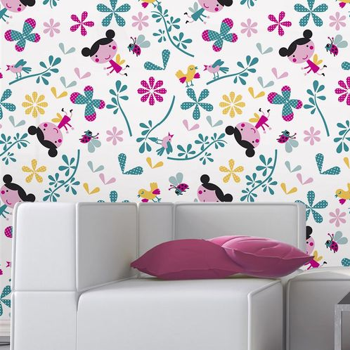 Papel de Parede Adesivo Rolo 0,58x3,00M Floral 1434