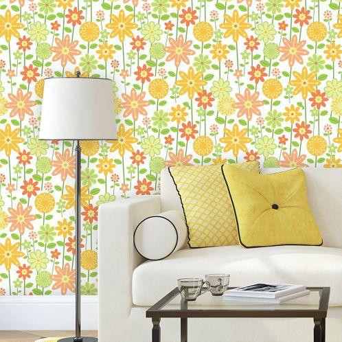 Papel de Parede Adesivo Rolo 0,58x3,00M Floral 1426
