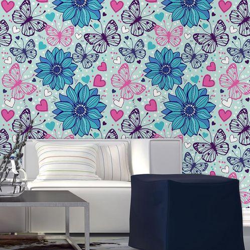 Papel de Parede Adesivo Rolo 0,58x3,00M Floral 146209487