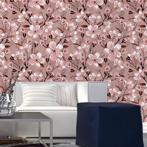 Papel de Parede Adesivo Rolo 0,58x3,00M Floral 1466