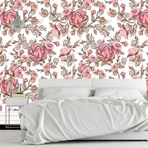 Papel de Parede Adesivo Rolo 0,58x3,00M Floral 1467