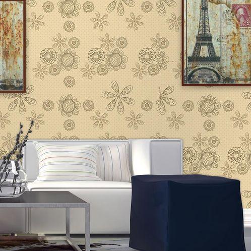 Papel de Parede Adesivo Rolo 0,58x3,00M Floral 1247