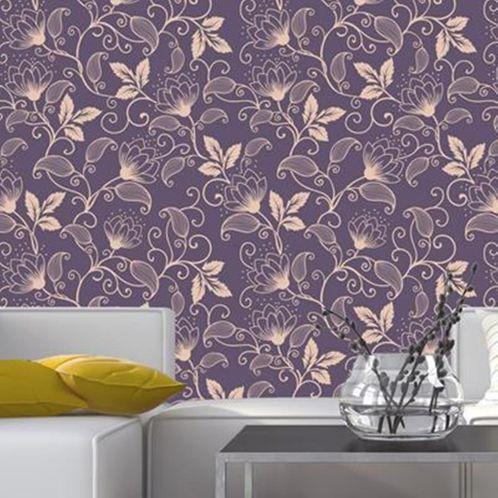 Papel de Parede Adesivo Rolo 0,58x3,00M Floral 148224071
