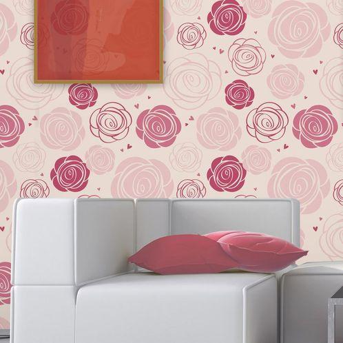 Papel de Parede Adesivo Rolo 0,58x3,00M Floral 151642877