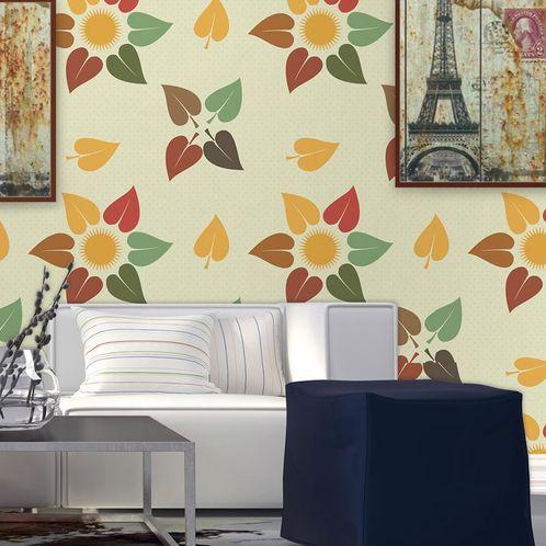 Papel de Parede Adesivo Rolo 0,58x3,00M Floral 1255