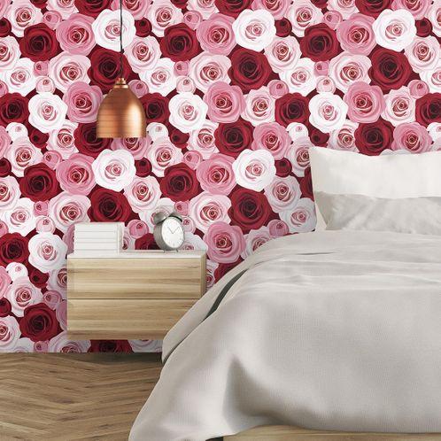 Papel de Parede Adesivo Rolo 0,58x3,00M Floral 153551831