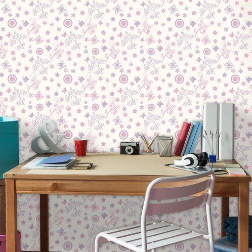 Papel de Parede Adesivo Rolo 0,58x3,00M Floral 1259