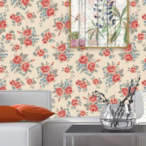 Papel de Parede Adesivo Rolo 0,58x3,00M Floral 159536975