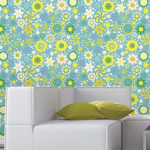 Papel de Parede Adesivo Rolo 0,58x3,00M Floral 1372