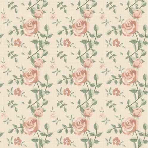 Papel de Parede Adesivo Rolo 0,58x3,00M Floral 132790727