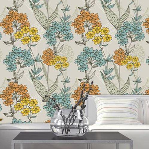 Papel de Parede Adesivo Rolo 0,58x3,00M Floral 212808019