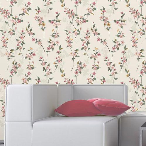 Papel de Parede Adesivo Rolo 0,58x3,00M Floral 188270534