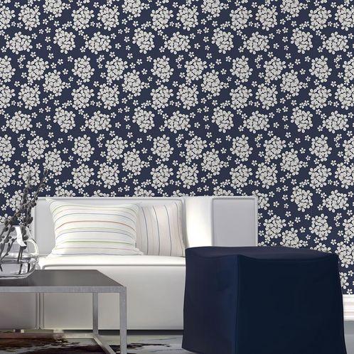 Papel de Parede Adesivo Rolo 0,58x3,00M Floral 129085823