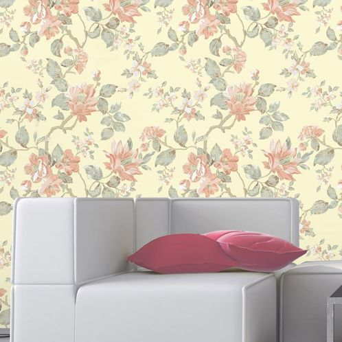 Papel de Parede Adesivo Rolo 0,58x3,00M Floral 191798189