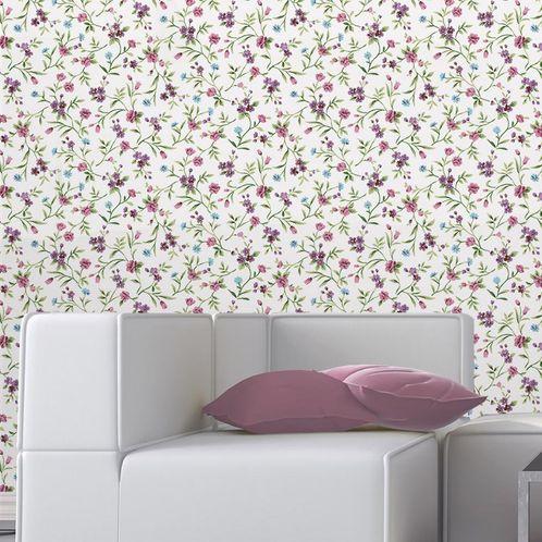 Papel de Parede Adesivo Rolo 0,58x3,00M Floral 1332