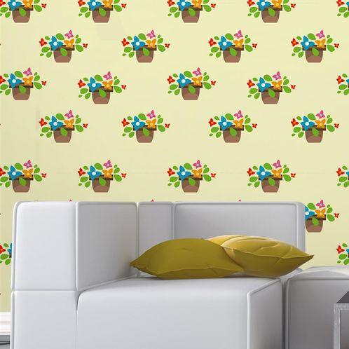 Papel de Parede Adesivo Rolo 0,58x3,00M Floral 33