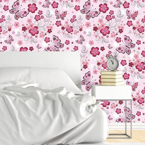 Papel de Parede Adesivo Rolo 0,58x3,00M Floral 5
