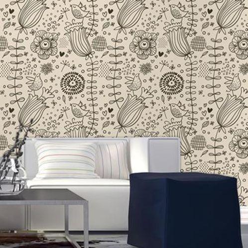 Papel de Parede Adesivo Rolo 0,58x3,00M Floral 502