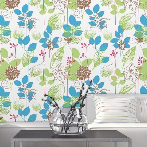 Papel de Parede Adesivo Rolo 0,58x3,00M Floral 525