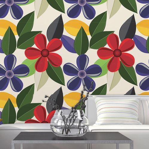 Papel de Parede Adesivo Rolo 0,58x3,00M Floral 552