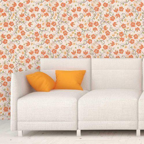 Papel de Parede Adesivo Rolo 0,58x3,00M Floral 565
