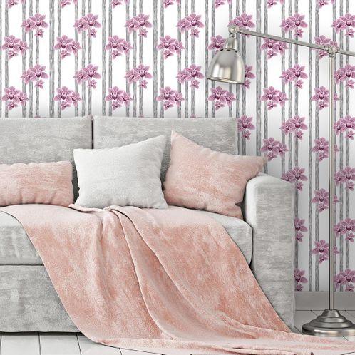 Papel de Parede Adesivo Rolo 0,58x3,00M Floral 257131162