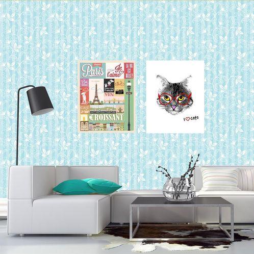 Papel de Parede Adesivo Rolo 0,58x3,00M Floral 589695