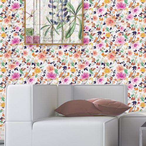 Papel de Parede Adesivo Rolo 0,58x3,00M Floral 539