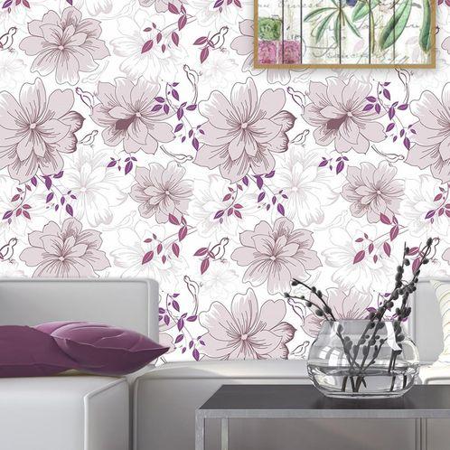Papel de Parede Adesivo Rolo 0,58x3,00M Floral 26