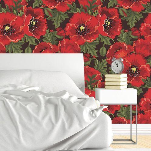 Papel de Parede Adesivo Rolo 0,58x3,00M Floral 603