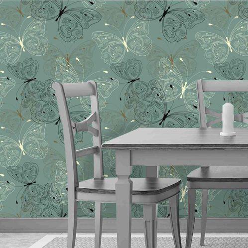 Papel de Parede Adesivo Rolo 0,58x3,00M Floral 607