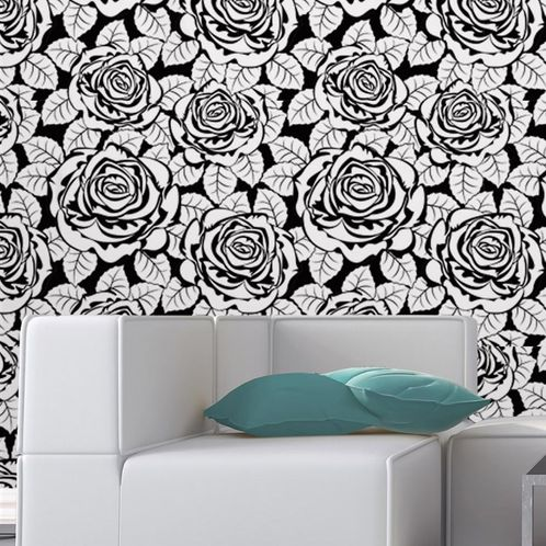 Papel de Parede Adesivo Rolo 0,58x3,00M Floral 677