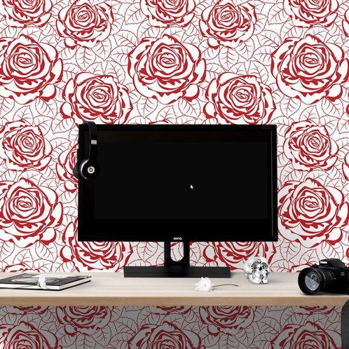 Papel de Parede Adesivo Rolo 0,58x3,00M Floral 678