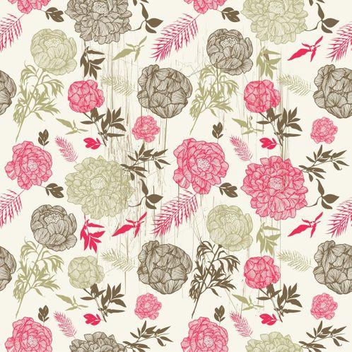 Papel de Parede Adesivo Rolo 0,58x3,00M Floral 685
