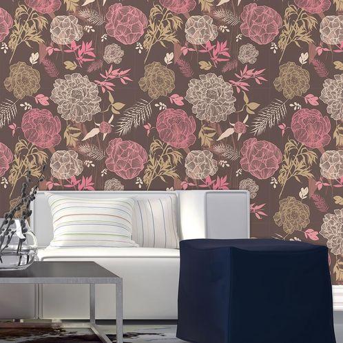 Papel de Parede Adesivo Rolo 0,58x3,00M Floral 686