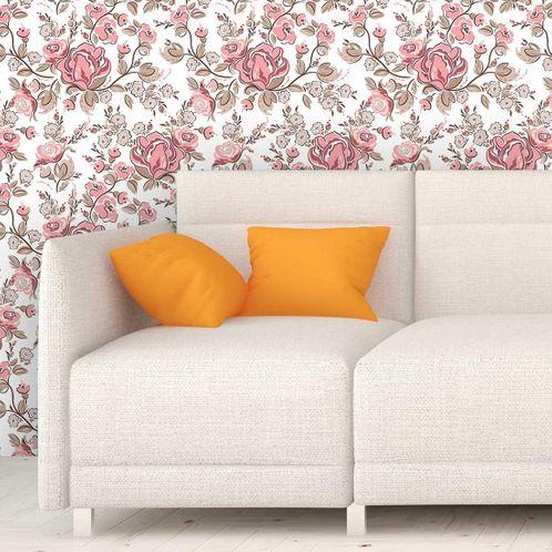 Papel de Parede Adesivo Rolo 0,58x3,00M Floral 688