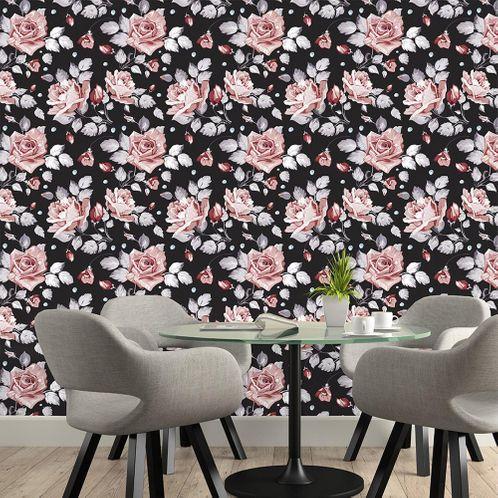 Papel de Parede Adesivo Rolo 0,58x3,00M Floral 693