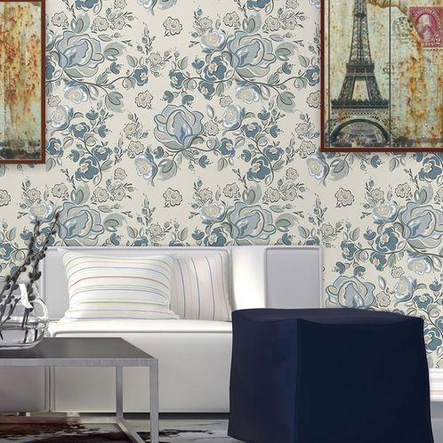 Papel de Parede Adesivo Rolo 0,58x3,00M Floral 701