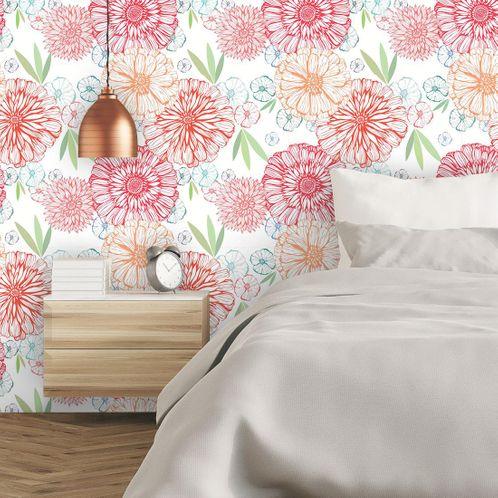 Papel de Parede Adesivo Rolo 0,58x3,00M Floral 7