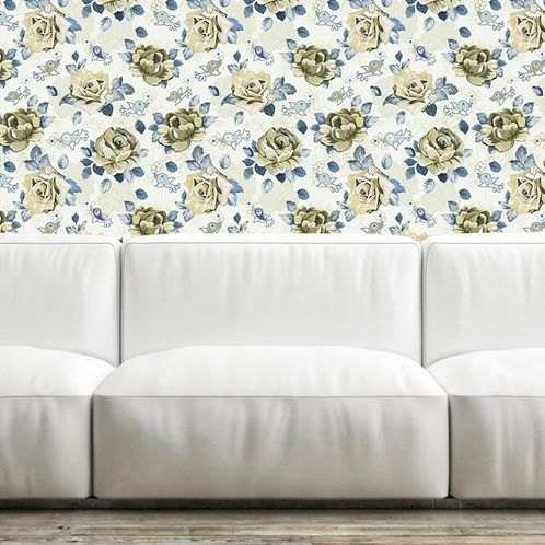 Papel de Parede Adesivo Rolo 0,58x3,00M Floral 272