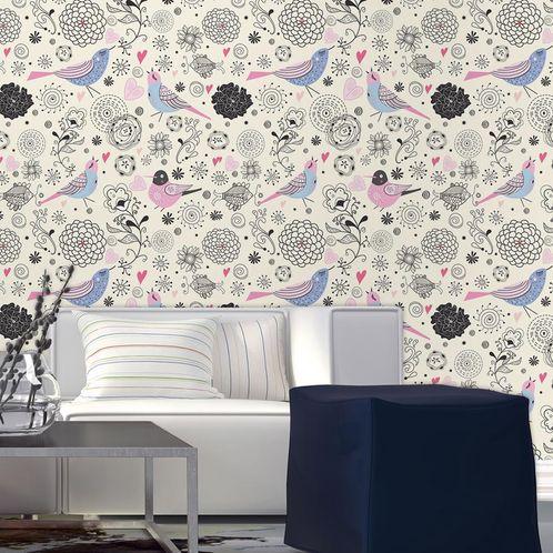 Papel de Parede Adesivo Rolo 0,58x3,00M Floral 390