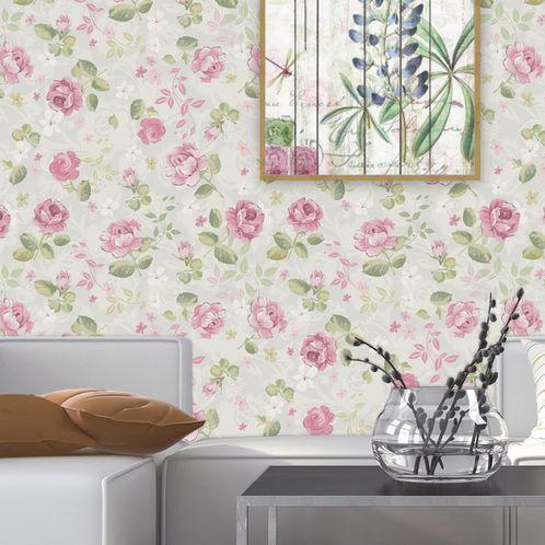 Papel de Parede Adesivo Rolo 0,58x3,00M Floral 97213736
