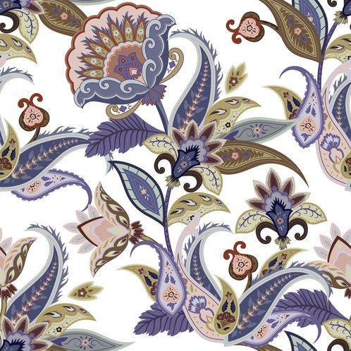 Papel de Parede Adesivo Rolo 0,58x3,00M Floral Indiano 363628028