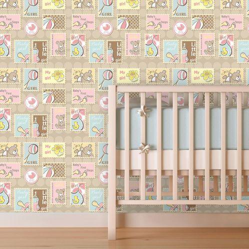 Papel de Parede Adesivo Rolo 0,58x3,00M Infantil 1155