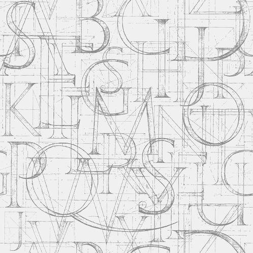 Papel de Parede Adesivo Rolo 0,58x3,00M Letras 332520533
